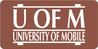 Front License Plate University of Mobile