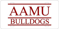 Alabama A&M University Bulldogs-Silver-Garnet License Plate
