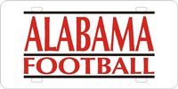 Alabama Football License Plate