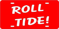Roll Tide-Red-Silver License Plate