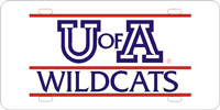 U of A Wildcats License Plate