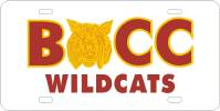 BCC Wildcats License Plate
