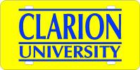 Clarion University License Plate