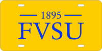 FVSU Mirror Acrylic License Plate