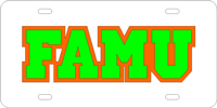 FAMU Custom License Plate