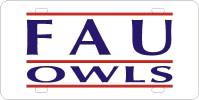 FAU Owls Custom License Plate
