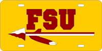 FSU Custom Logo License Plate