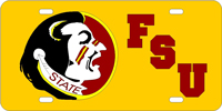 Florida State University - Chief FSU Gold License Plate