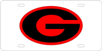 060010 Georgia, University of - G Oval Silver-Red-Black