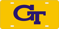 Georgia Tech Engraved License Plate
