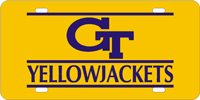 062076 Georgia Tech - GT Yellow Jackets Gold-Blue