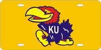 Kansas University - Jayhawk Custom License Plate
