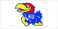 100013 Kansas University - Jayhawk Silver-Blue-Red