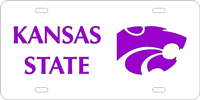 Kansas State University Custom License Plate