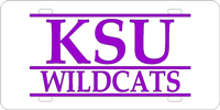 KSU Wildcats Logo License Plate