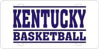 Kentucky Basketball Plate