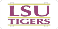 LSU Tigers Custom License Plate