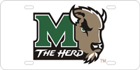 114003 Marshall University - The Hear Silver-Dark Green