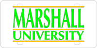 Marshall University - Marshall University Silver-Green-Gold License Plate