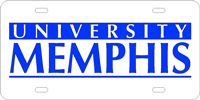 University Memphis Custom Plate