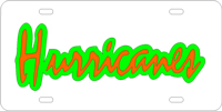 123050 Miami, University of - Hurricames Silver-Green-Orange License Plate