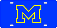 University of Michigan M License Plate
