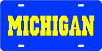 Personalized Michigan License Plate