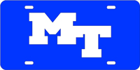 Middle Tennessee State - MT Blue-Silver License Plate