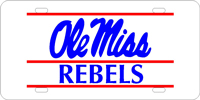 Ole Miss Rebels License Plate