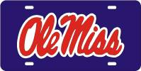 Custom License Plate Ole Miss