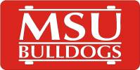 Logo License Plate MSU Bulldogs