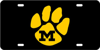 Missouri University M Paw License Plate