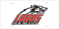 New Mexico Lobos License Plate