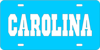 134049 North Carolina, University of - CAROLINA L. Blue-Silver License Plate