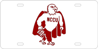 134728 North Carolina Central University - NCCU Logo Silver-Garnet