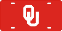 Oklahoma University License Plate
