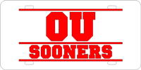 Personalized License Plate OU Sooners