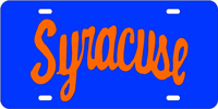 Custom Plate Syracuse