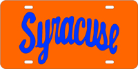 Syracuse custom License Plate