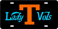 190113 Tennessee, University of - Lady Vols Black-Orange-Blue License Plate