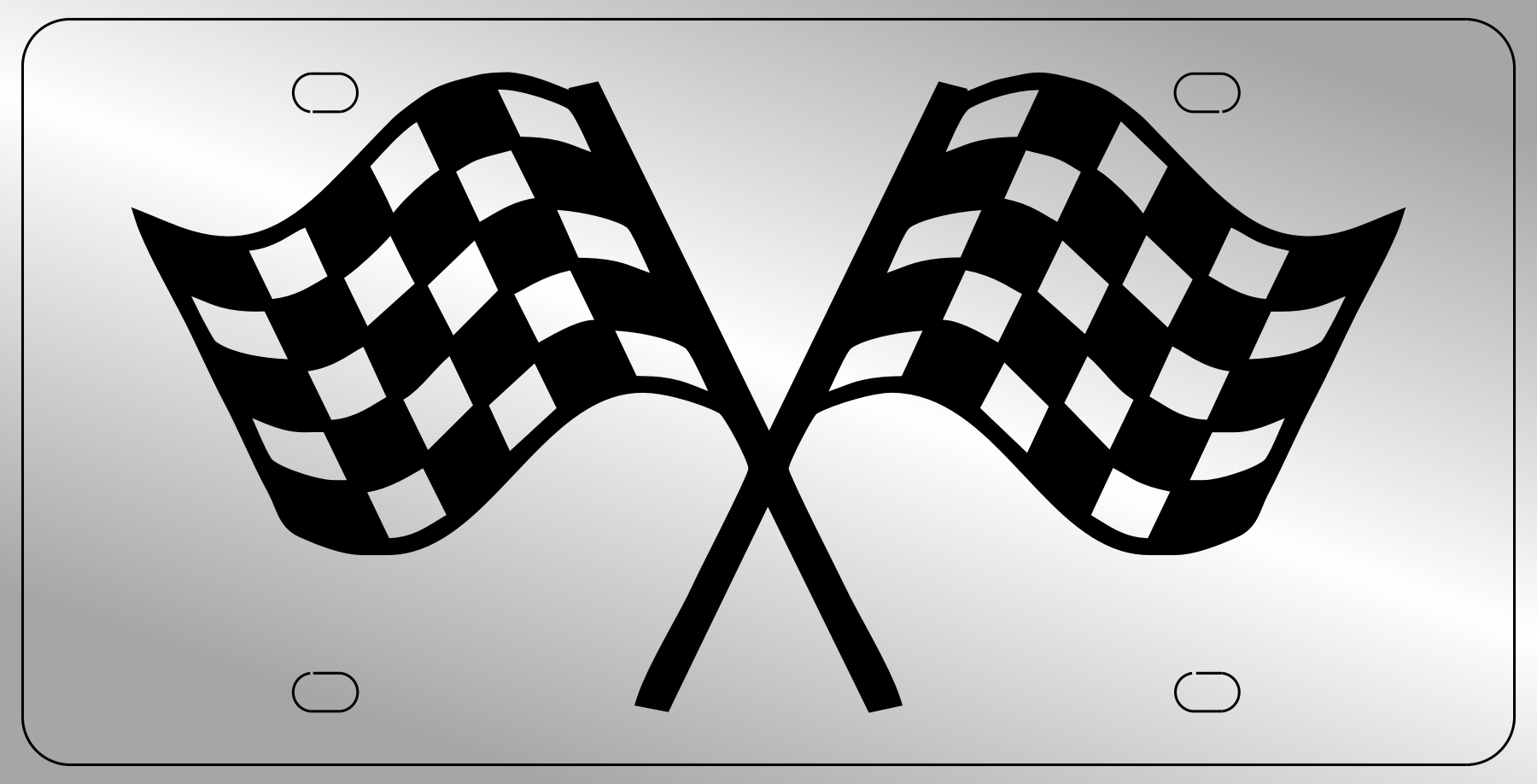 Stainless Steel Racing Flags Plate