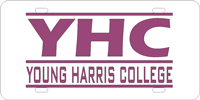 Young Harris College - YHC Young Harris Bars Silver-Purple License Plate