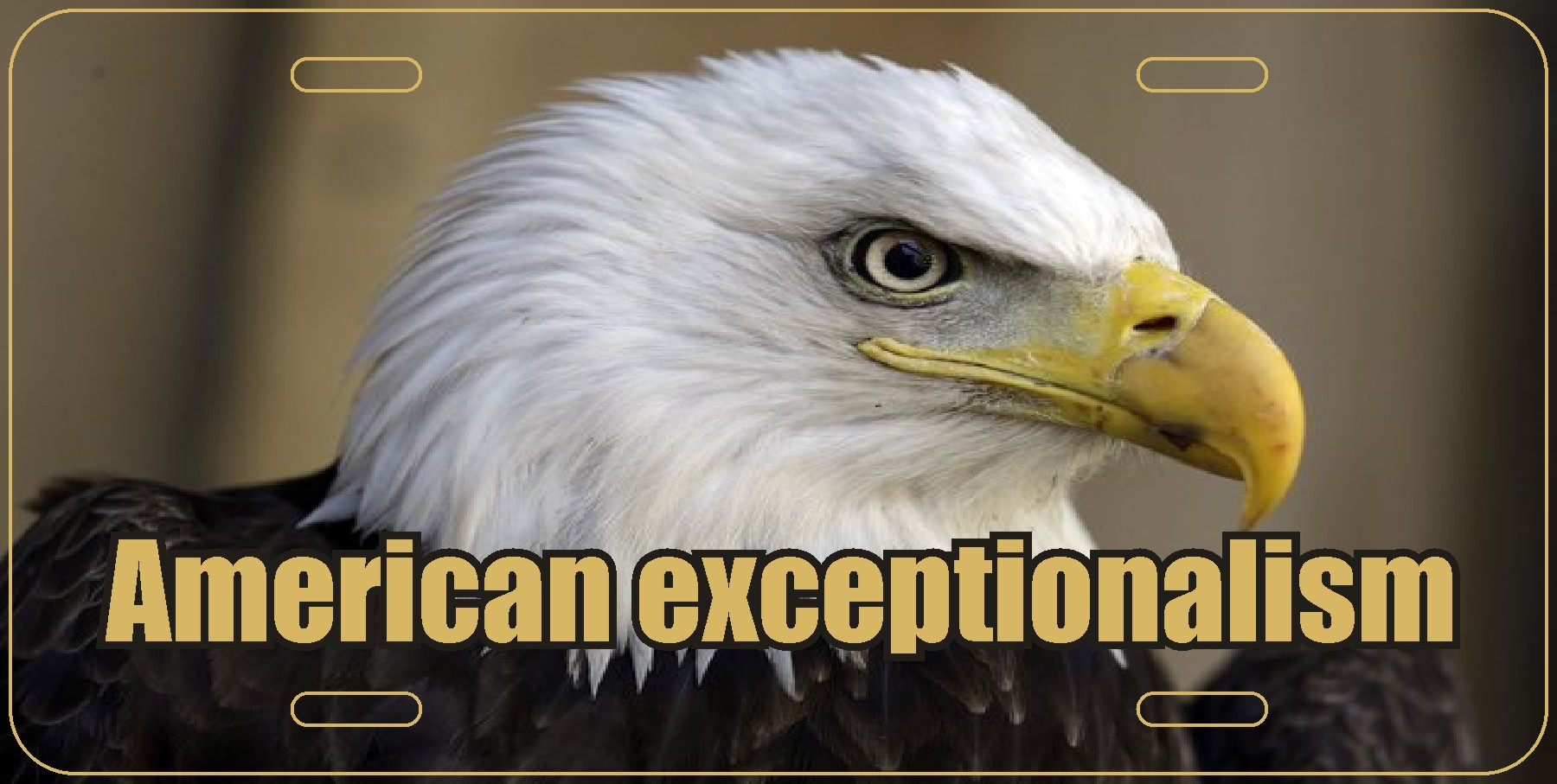American exceptionalism Plate