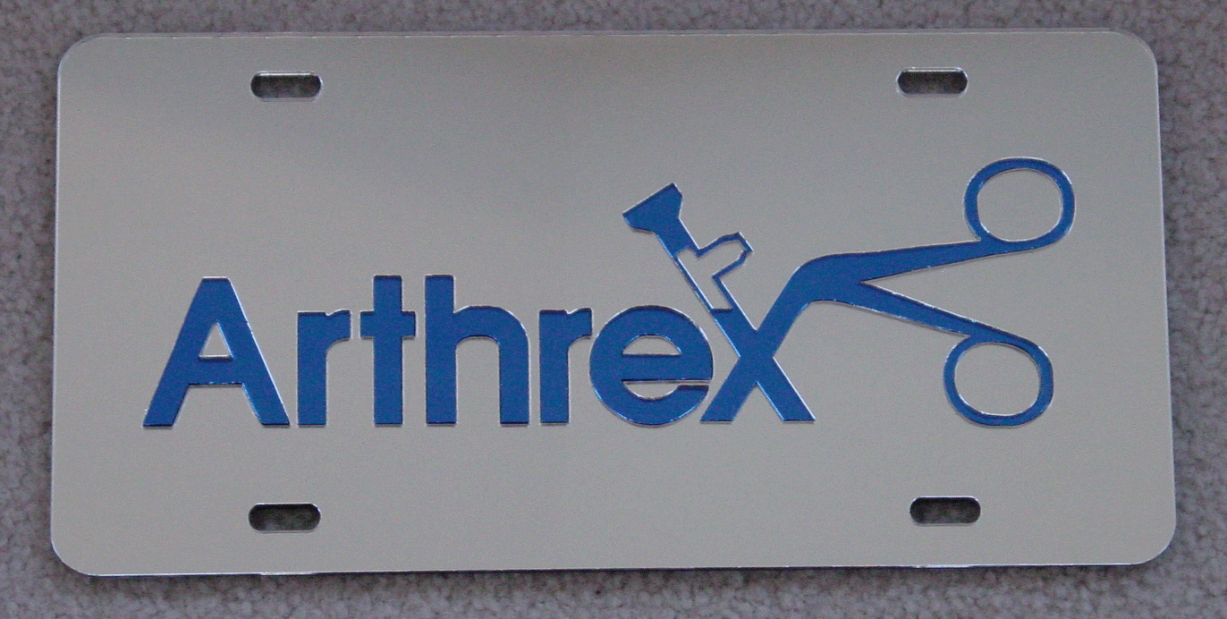 Medical Company Logo License Plate