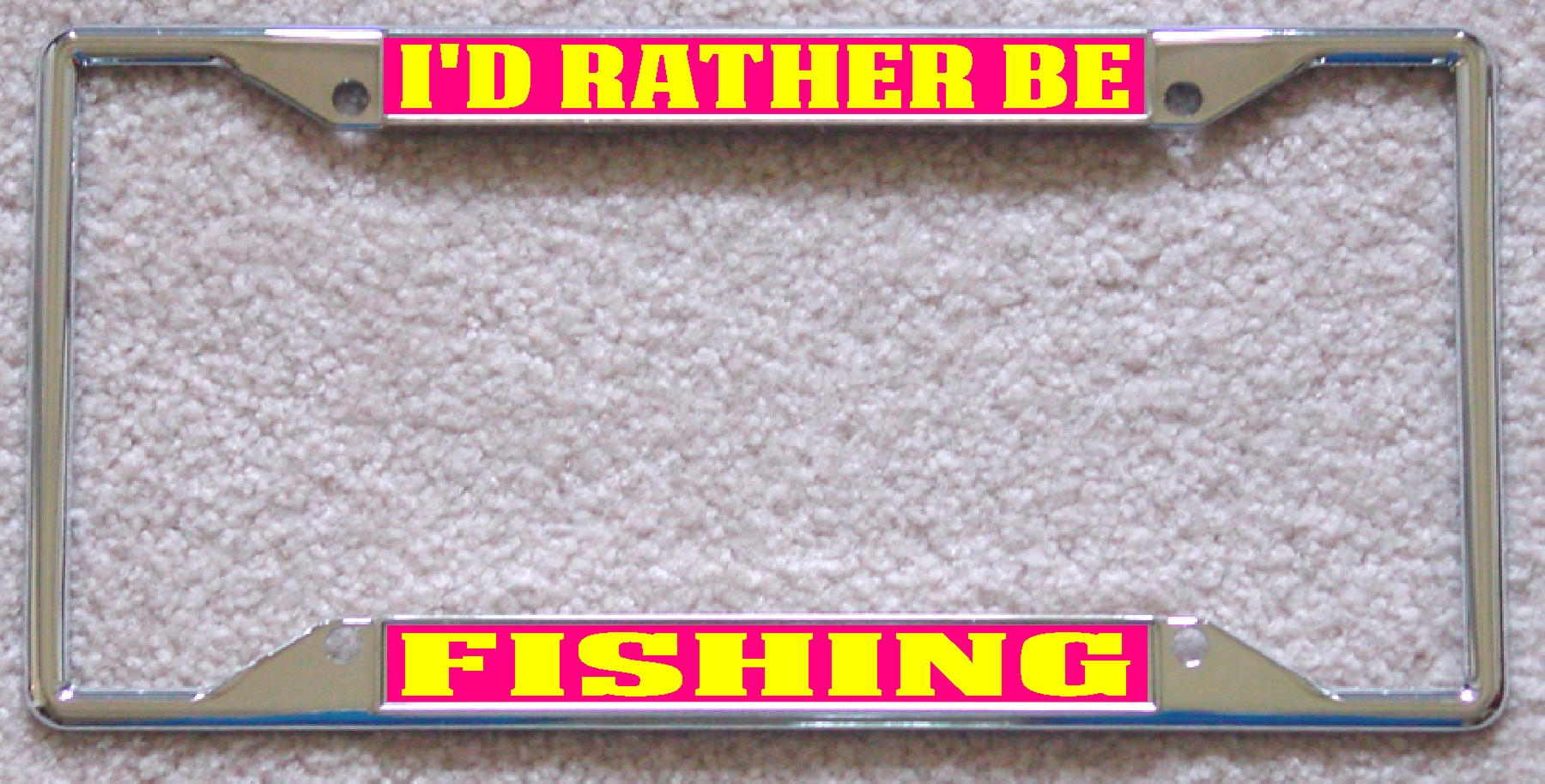 ID RATHER BE FISHING Frame