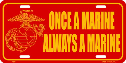 Marines License Plate