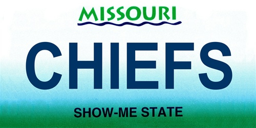 LP-2049 Missouri State Background License Plates - Chiefs
