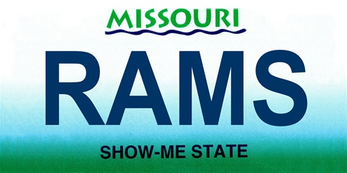 LP-2050 Missouri State Background License Plates - Rams