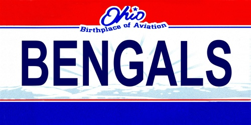 LP-2055 Ohio State Background License Plates - Bengals