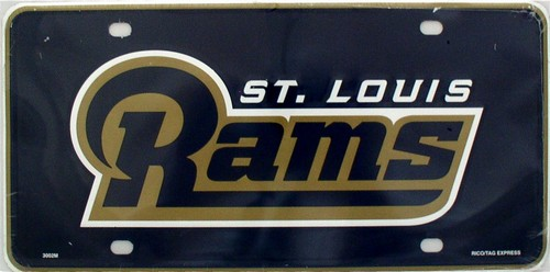 LP-747 St Louis Rams NFL Football License Plate - 3002M